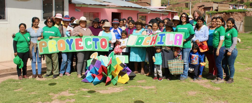 Backpack Project at the local elementary school in Pillao Matao on the out skirts of Cusco, Peru.